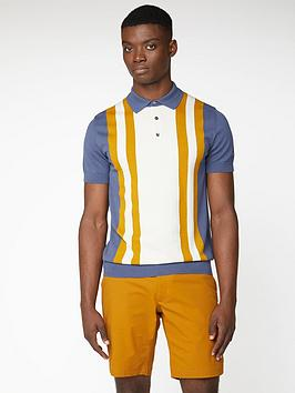 ben-sherman-colour-block-knitted-polo-shirt-light-indigo