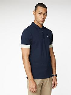 ben-sherman-pineapple-pique-polo-top-dark-navy