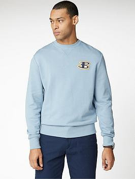 ben-sherman-cornelli-logo-sweatshirt-dusky-blue
