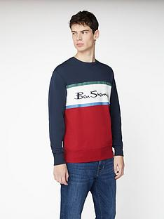 ben-sherman-colour-blocked-logo-sweat-top-dark-navy