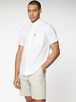 ben-sherman-short-sleeve-signature-oxford-shirt-white