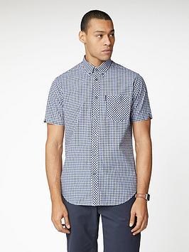 ben-sherman-short-sleeve-signature-core-gingham-shirt-blue