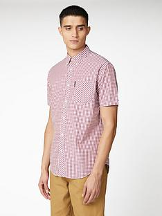 ben-sherman-short-sleeve-signature-core-gingham-shirt-red