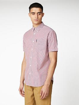 ben-sherman-short-sleeve-signature-core-gingham-shirt-red