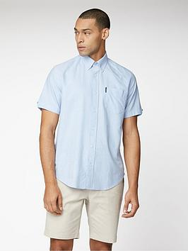 ben-sherman-short-sleeve-signature-oxford-shirt-sky