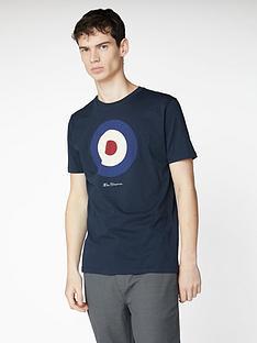 ben-sherman-signature-target-t-shirt-dark-navy