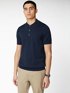 ben-sherman-signature-cotton-short-sleeve-polo-shirt-navy