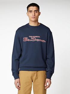 ben-sherman-signature-logo-sweat-top-dark-navy