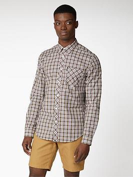 ben-sherman-long-sleeve-classic-check-shirt-dijon