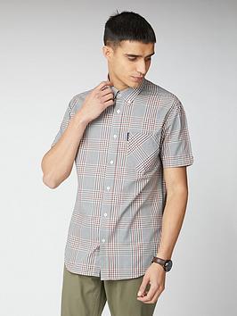 ben-sherman-short-sleeve-mixed-scale-check-shirt-multi