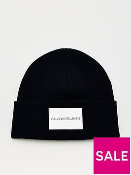calvin-klein-jeans-monogram-beanie-hat-black