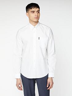 ben-sherman-long-sleeve-signature-oxford-shirt-white