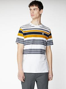 ben-sherman-reverse-knit-stripe-t-shirt-snow-white