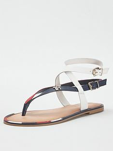 tommy-hilfiger-elastic-flat-sandals-red
