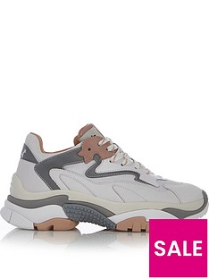 prod1089313630: Addict Chunky Sole Trainers - White/Grey