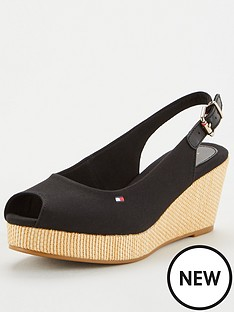 tommy-hilfiger-iconic-elba-sling-back-wedges-black