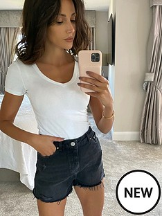 michelle-keegan-core-ripped-denim-shorts
