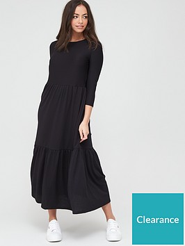 river-island-long-sleeve-maxi-smock-dress--nbspblack
