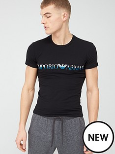 emporio-armani-bodywear-mega-logo-slim-fit-lounge-short-sleeve-t-shirt-black