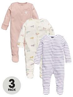 v-by-very-baby-girls-3-pack-animal-print-sleepsuits-multi