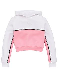 hype-girls-contrast-panel-cropped-overhead-hoodie-pink