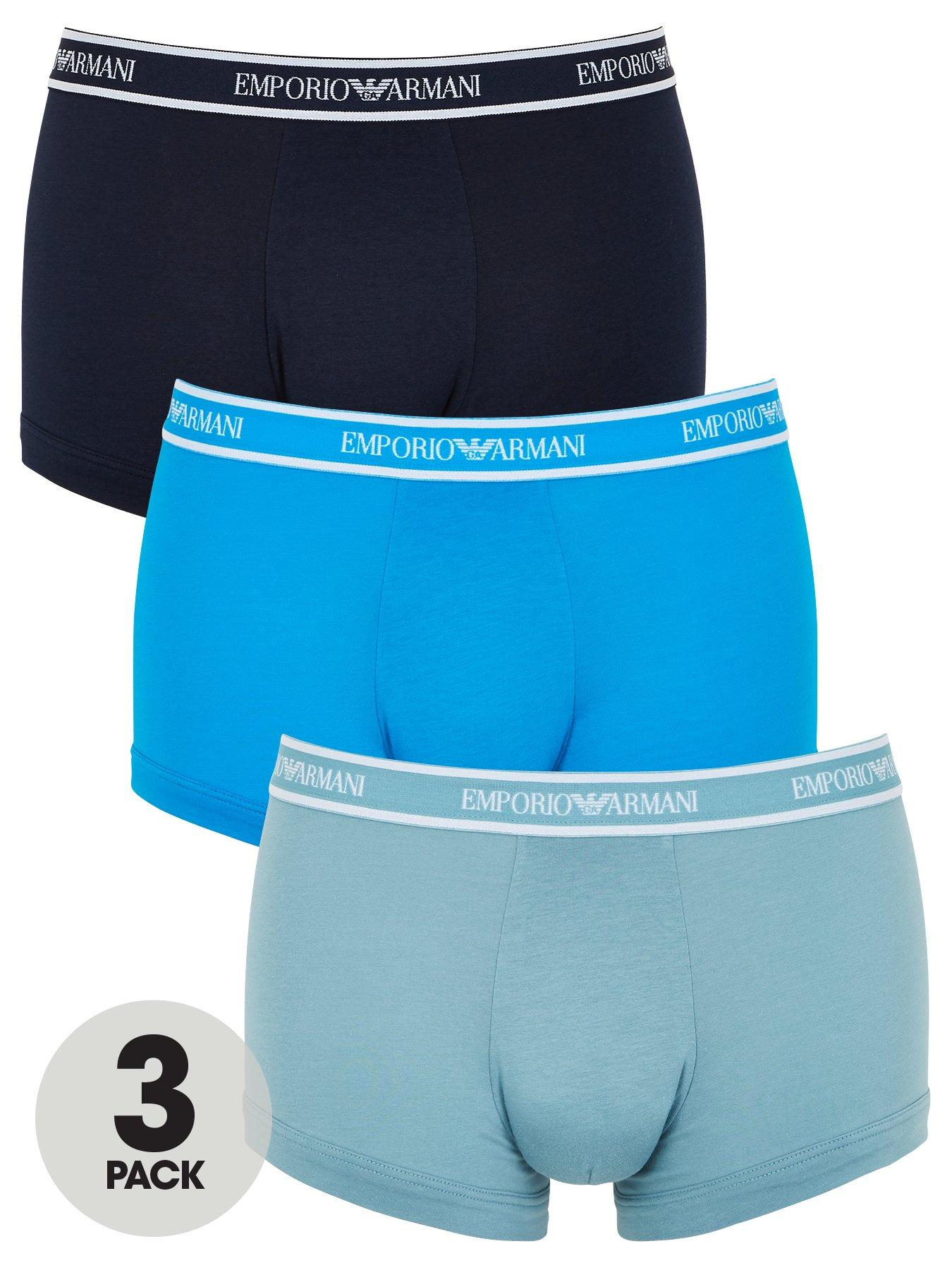 Size XXL Superdry Men's Boxers Double Pack Turquoise//Navy
