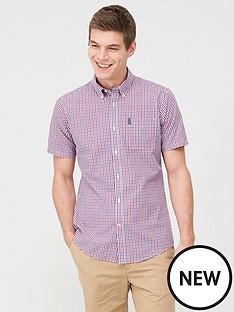 barbour-short-sleeved-gingham-shirt-red