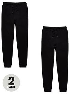 v-by-very-unisex-2-pack-basic-school-jogging-bottoms-black