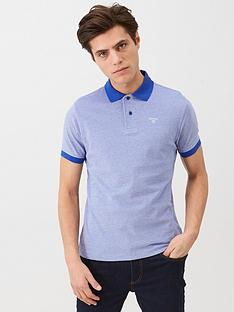 barbour-contrast-collar-polo-navy