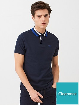 barbour-large-tipped-collar-polo-navy