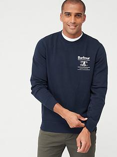 barbour-small-chest-logo-sweat-top-navy