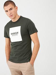 barbour-international-block-logo-t-shirt-green