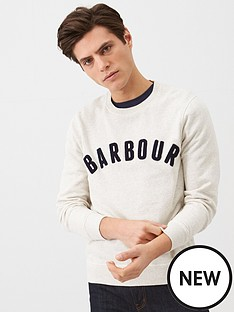 barbour-prep-textured-logo-sweat-white