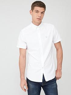 barbour-short-sleeved-oxford-shirt-white