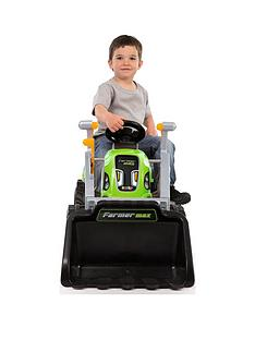 smoby-green-tractor-with-scoop-and-trailer