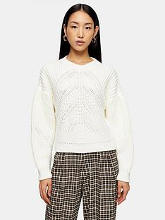 topshop-ribbed-balloon-sleeve-jumper-white