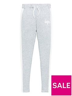 hype-girls-panel-jog-pants-grey