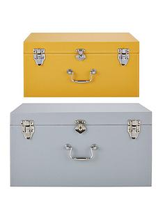 set-of-2-faux-leather-storage-trunks