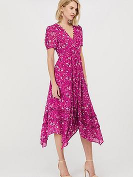 monsoon-sustainable-viscose-print-dress-pink