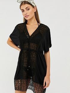 monsoon-lollie-lace-ecovero-kaftan-black
