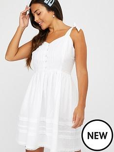 accessorize-button-pleat-dress-white