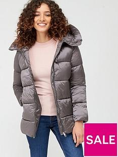 mango-zip-up-hooded-padded-coat-silver