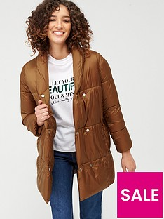 mango-longline-button-front-padded-coat-dark-brown
