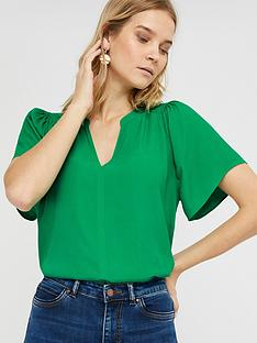 monsoon-arabella-short-sleeve-blouse-green