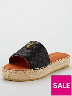 kurt-geiger-london-karmen-slide-flat-sandal-black
