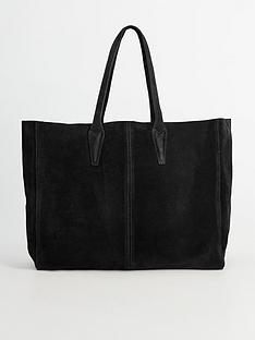 mango-oversized-suede-tote-bag-black