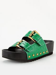 kurt-geiger-london-deven-flat-sandals-green