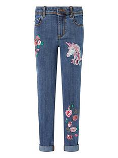 monsoon-girls-eliza-unicorn-jeans-blue