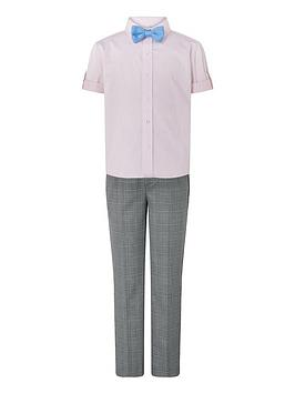 monsoon-max-check-2pc-set-with-knitted-bow-tie