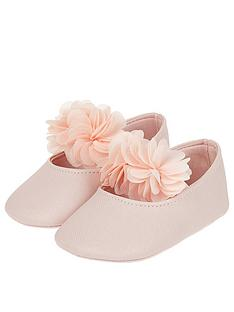 monsoon-baby-macaroon-pink-corsage-booties-pale-pink